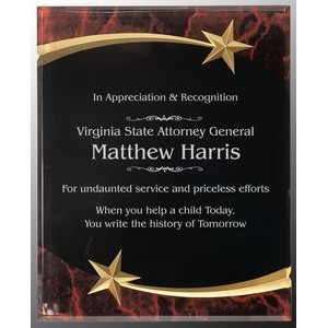 Red Marble Shooting Star Acrylic Plaque