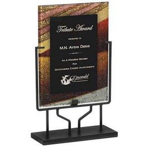 Autumn Harvest Acrylic Art Plaque Award With Iron Stand