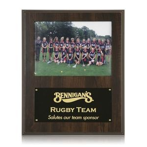 "Photo Plaque - Walnut Finish 9""x12"""