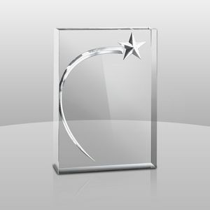 "Monolith Collection 3D Shining Star I w/3D Shooting Star (6 3/4""x4 3/4""x1"")"