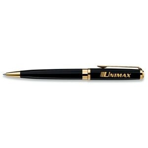 Waterman Exception Slim Black W/ Gold Trim Roller Ball Pen