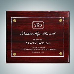 Rosewood Piano Finish Plaque Floating Acrylic Plate (Small)