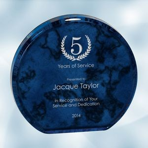 Blue Marble Aurora Acrylic Award (Medium)